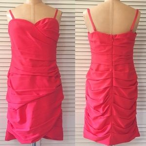 BCBGMaxazria Ruched Dress size 10 Madge